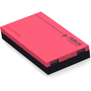 Baterie externa PROMATE Cloy-12, 12000mAh, 2xUSB, Pink