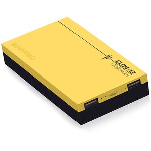 Baterie externa PROMATE Cloy-12, 12000mAh, 2xUSB, Yellow