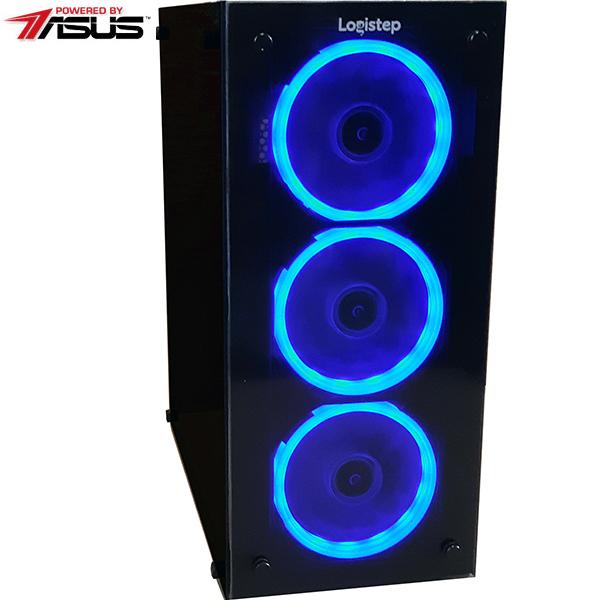 Sistem PC MYRIA Style V52 Powered by Asus, AMD RYZEN 5 2400Gpana la 3.9GHz, 8GB, 1TB + SSD 120GB, NVIDIA GeForce GTX 1060 6GB, Ubuntu