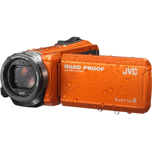 Camera video JVC Quad-Proof GZ-R405BEU, portocaliu