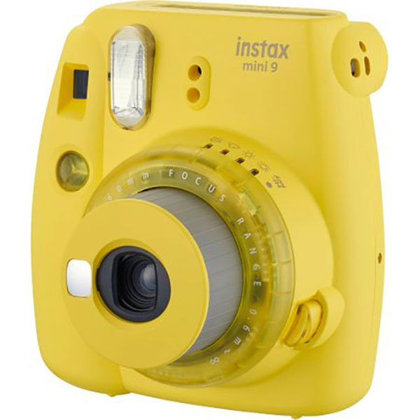 Camera foto instant FUJI Instax Mini 9, Clear Yellow