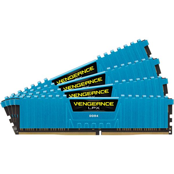 Memorie desktop CORSAIR Vengeance LPX Blue, 4x4GB DDR4, 2133MHz, CL13, CMK16GX4M4A2133C13B