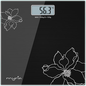Cantar de persoane MYRIA MY4805BK, electronic, 150kg, negru