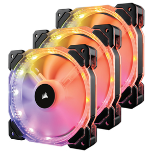 Ventilator CPU CORSAIR HD120 RGB LED, 1 x 120mm, 3 buc., CO-9050067-WW