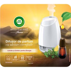 Difuzor de parfum AIR WICK Essential Mist alb cu Lamaie si Cimbru, 20 ml