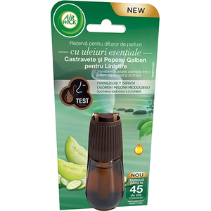 Rezerva difuzor de parfum AIR WICK Essential Mist Castravete si Pepene galben, 20 ml
