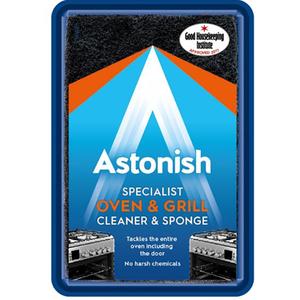 Pasta speciala pentru curatare aragazuri, cuptoare +burete ASTONISH C8600, 250g