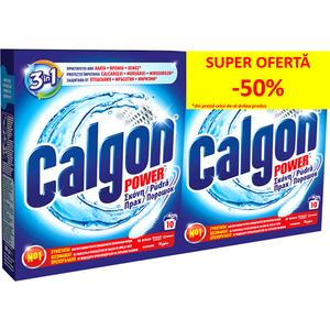 Pudra anticalcar CALGON 3 in 1 Protect & Clean 500g 1+1 pentru masina de spalat rufe