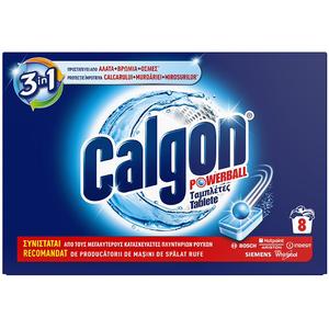 Tablete anticalcar CALGON PowerBall, 8 bucati