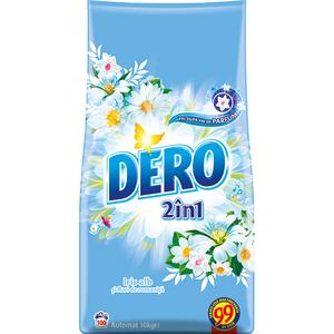 Detergent automat 2in1 DERO Iris alb , 10kg, 100 spalari