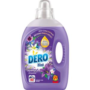 Detergent lichid DERO Lavanda, 2l, 40 spalari