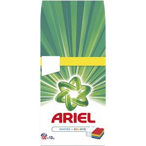 Detergent pudra ARIEL White & Color, 13kg, 130 spalari