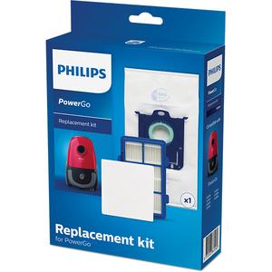Kit PHILIPS PowerGo FC8001/01: 1 sac + 1 filtru motor + 1 filtru alergeni