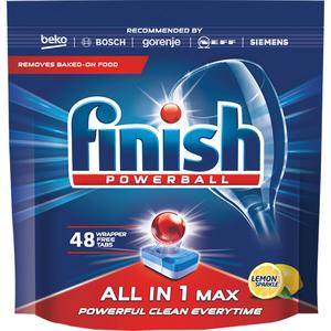 Detergent pentru masina de spalat vase FINISH All in One Max Lemon, 48 bucati