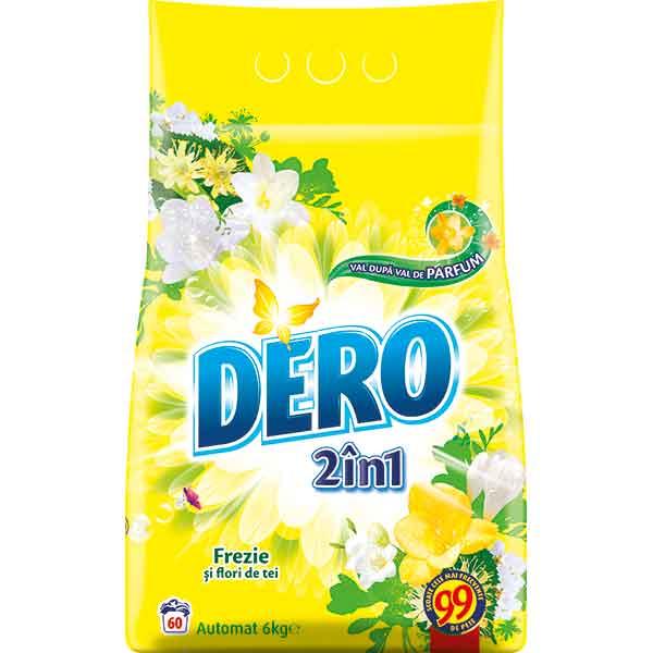 Detergent DERO 2in1 Frezie si Flori de tei, 6kg, 60 spalari