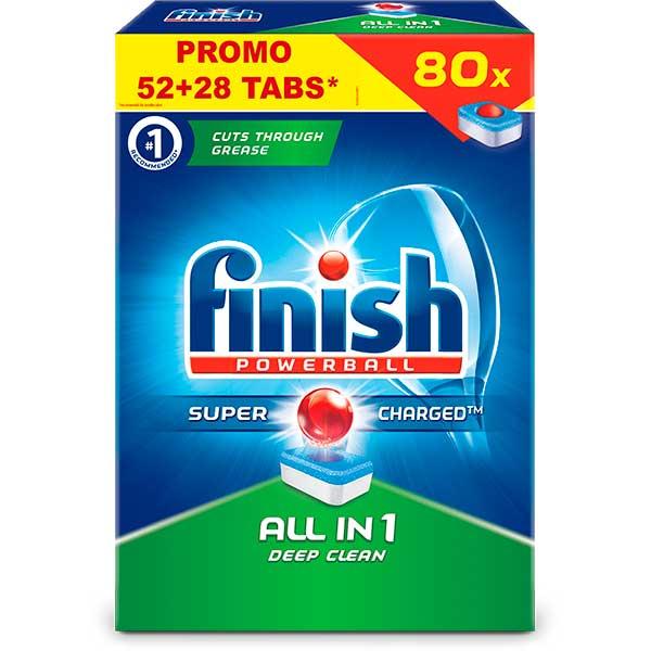 Detergent vase pentru masina de spalat vase FINISH All in One, 52+28 tablete