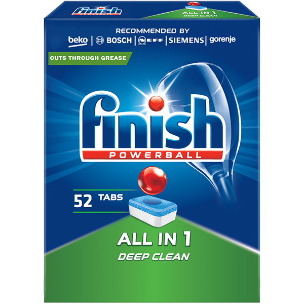 Detergent vase pentru masina de spalat vase FINISH All in One, 52 tablete