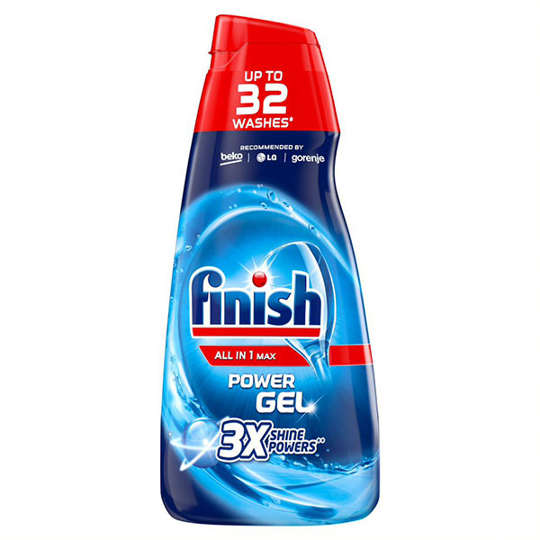Detergent vase gel pentru masina de spalat vase FINISH gel All In One Max Regular, 650ml