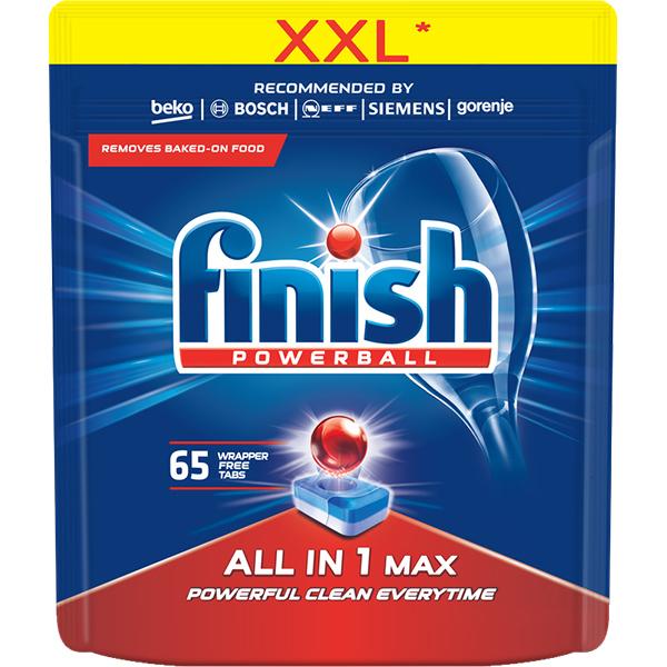 Detergent vase pentru masina de spalat vase FINISH All in One Max, 65 tablete