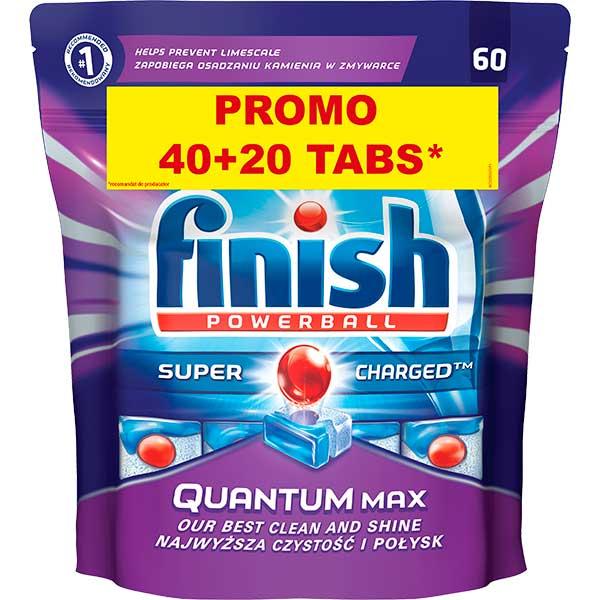 Detergent de vase FINISH Quantum, 40+20 bucati