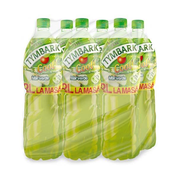 Bautura racoritoare necarbogazoasa TYMBARK COOL Mar Verde bax 2L x 6 sticle