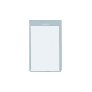 Ecuson vertical FLARO, PVC, 63 x 85 mm, 50 bucati, transparent