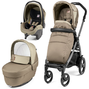 Carucior 3 in 1 PEG PEREGO Book Plus 51 Titania Class, 0 luni - 3 ani, bej