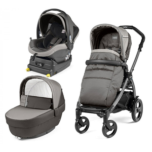 Carucior 3 in 1 PEG PEREGO Book Plus 51 Titania Class, 0 luni - 3 ani, gri