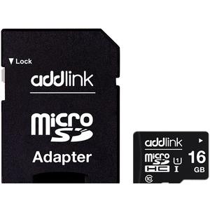Card de memorie ADDLINK microSDHC 16GB, Clasa 10 UHS-I U1, 85MB/sec, adaptor