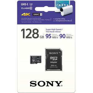Card de memorie SONY Professional microSDXC, 128GB, Clasa 10 UHS-I U3, 95MBs, adaptor