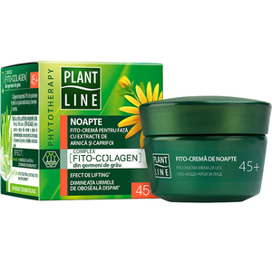 Crema antirid de noapte cu extract de arnica PLANT LINE, 45+, 45ml