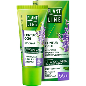 Crema contur pentru ochi cu extract de mur pitic PLANT LINE, 55+, 20ml