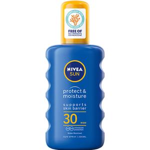 Spray protectie solara NIVEA Protect&Moisture, SPF 30, 200ml
