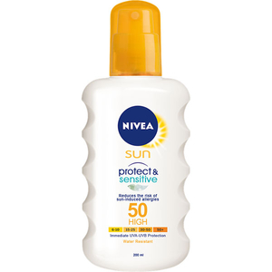 Spray protectie solara NIVEA Protect & Sensitive, SPF 50, 200ml
