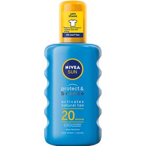 Spray pentru protectie solara NIVEA Protect&Bronze, SPF 20, 200ml