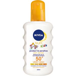 Spray protectie solara NIVEA Sun Kids Sensitive, SPF 50+, 200ml