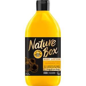 Lotiune de corp NATURE BOX Macadamia, 385ml