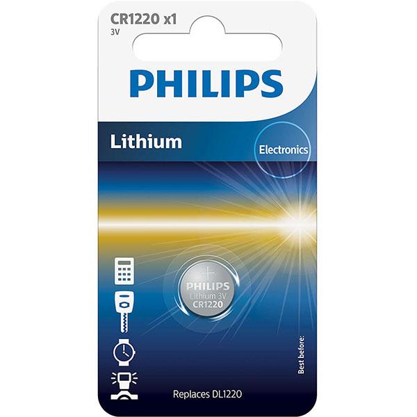 Baterie litiu PHILIPS CR1220, 3V