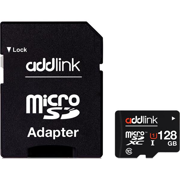 Card de memorie microSDXC 128GB ADDLINK UHS-I U1 Clasa 10, 48MB/sec
