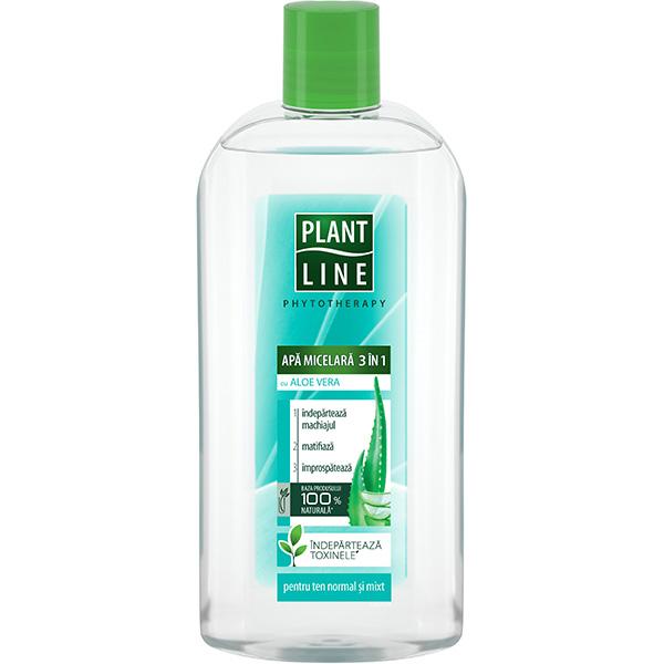 Apa micelara 3in1 cu Aloe Vera PLANT LINE, 400ml