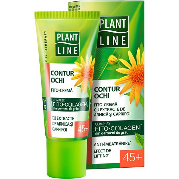Crema contur pentru ochi cu extract de arnica PLANT LINE, 45+, 20ml
