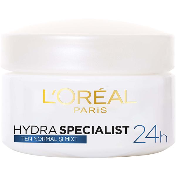 Crema de fata pentru ten normal L'OREAL PARIS Hydra Specialist, 50ml