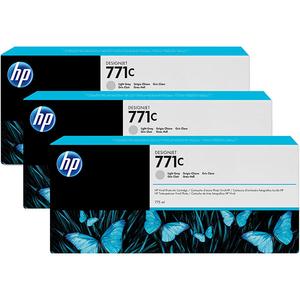 Pachet 3 cartuse HP 771C (B6Y38A), gri deschis