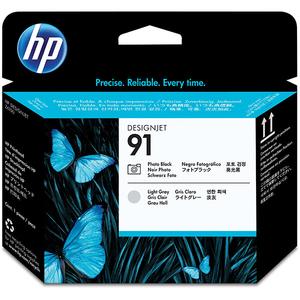 Cap imprimare HP 91 (C9463A), gri deschis, negru
