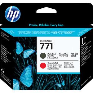 Cap imprimare HP 771 (CE017A), negru mat, rosu