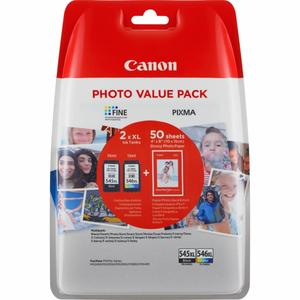 Pachet cartus cerneala si hartie foto CANON PG545/CL546XL PVP 8286B006AA, negru/cyan/magenta/galben