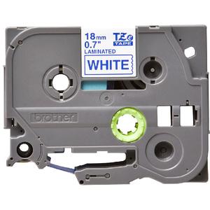 Banda etichete BROTHER TZe-243, 18 mm, 8 m, Albastru pe Alb