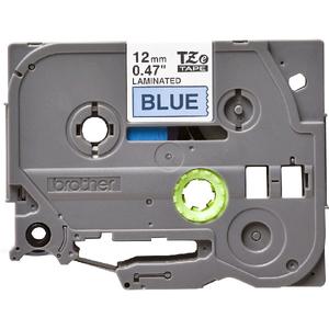 Banda etichete BROTHER TZe-531, 12 mm, 8 m, Negru pe Albastru