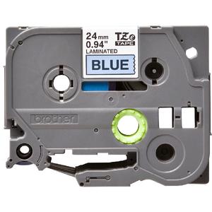 Banda etichete BROTHER TZe-551, 24 mm, 8 m, Negru pe Albastru