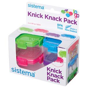 Set caserole SISTEMA 4044506, 4 piese, 0.062l, plastic, multicolor